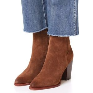 Sam Edelman Blake Woodland Brown Suede Booties 8.5